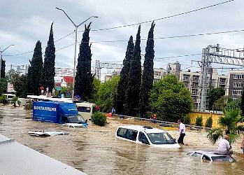 Наводнение в Сочи: фото очевидцев фото