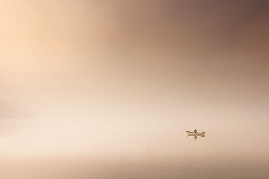 1019 - Туманная жизнь на озере
