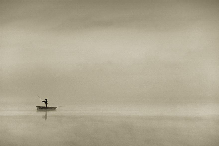 1125 - Туманная жизнь на озере