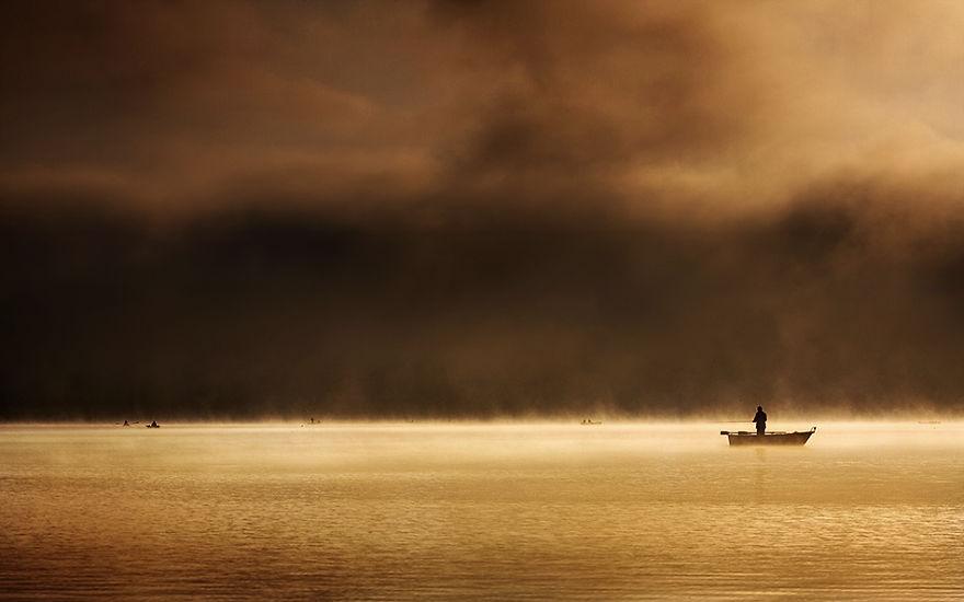 1220 - Туманная жизнь на озере