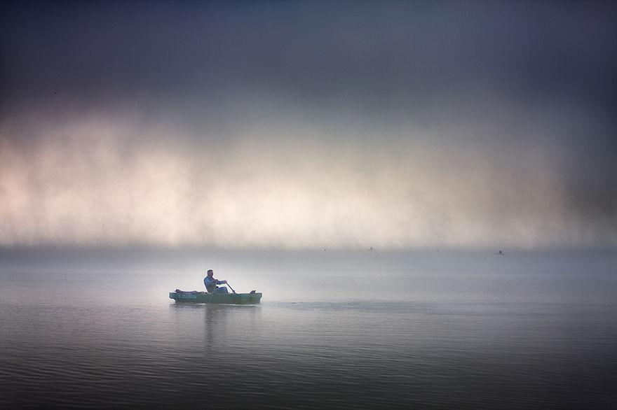 1317 - Туманная жизнь на озере