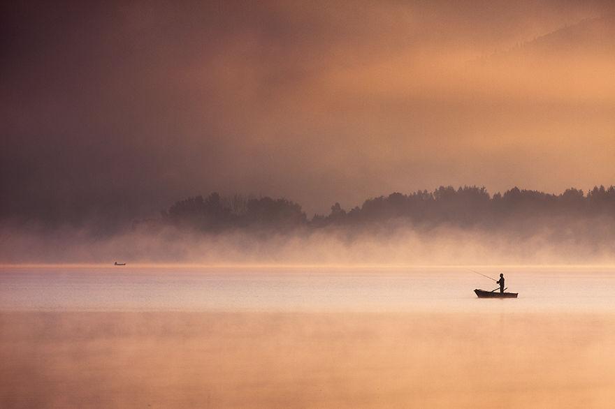 1414 - Туманная жизнь на озере
