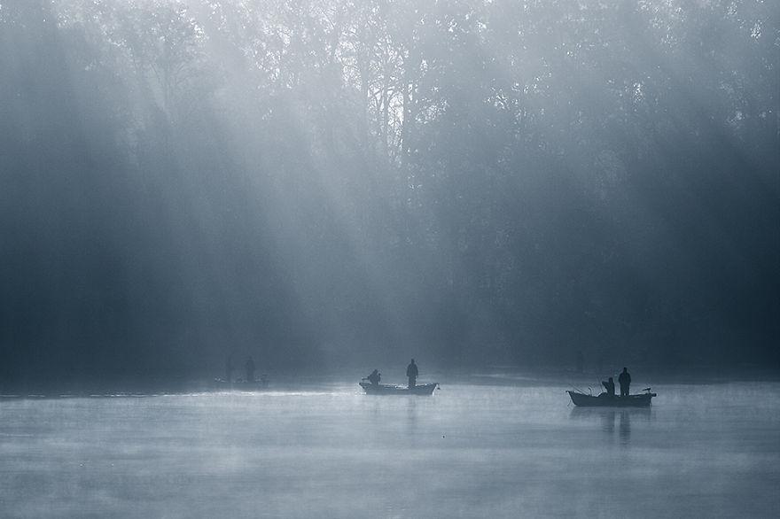 326 - Туманная жизнь на озере