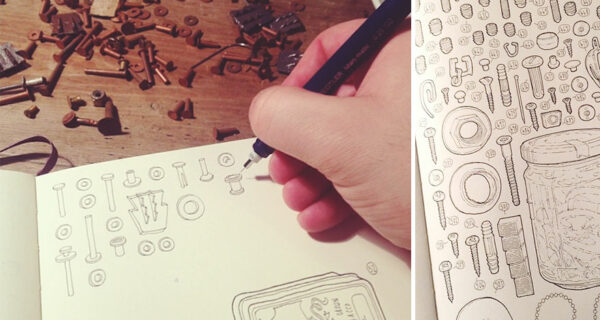 Художник решил почтить память своего деда, нарисовав каждый из 100 тысяч предметов в его кладовке