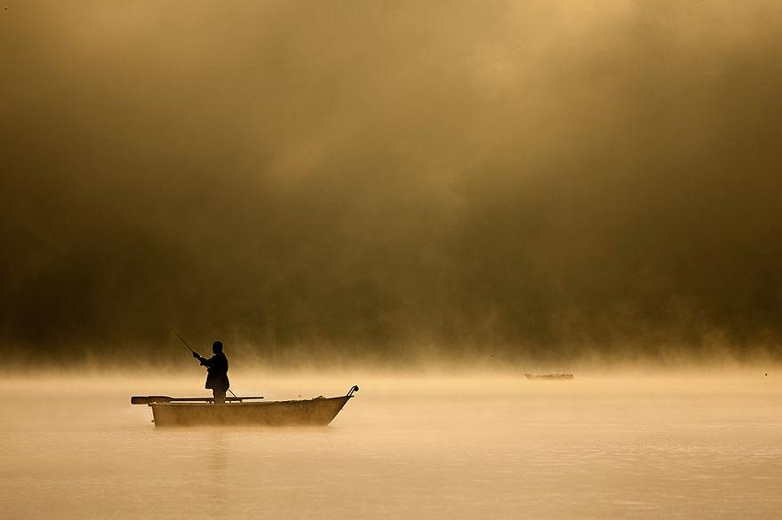 424 - Туманная жизнь на озере