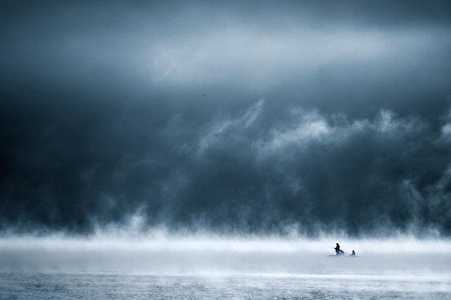 623 - Туманная жизнь на озере