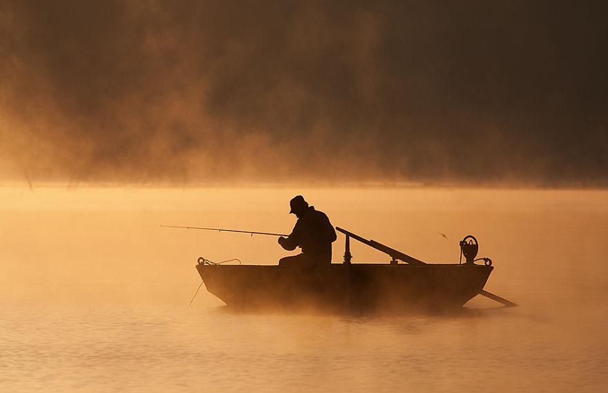 723 - Туманная жизнь на озере