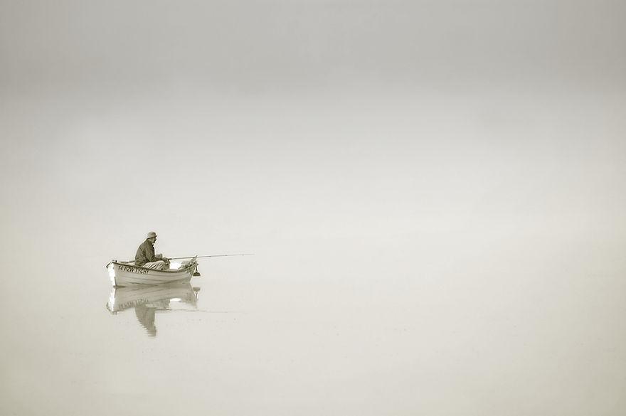 822 - Туманная жизнь на озере