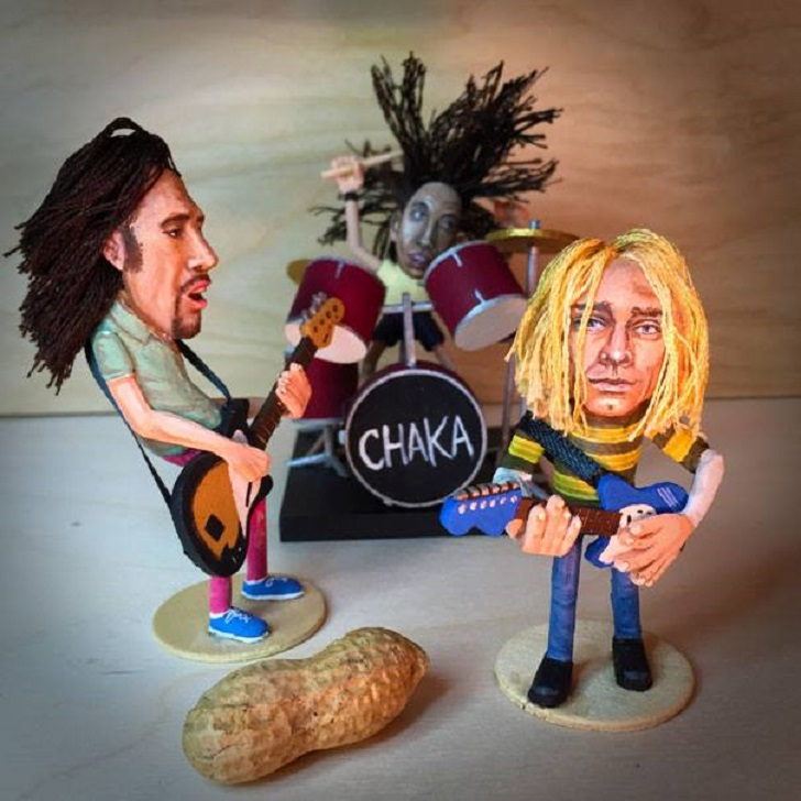 Американец создает гениальные фигурки из арахиса
