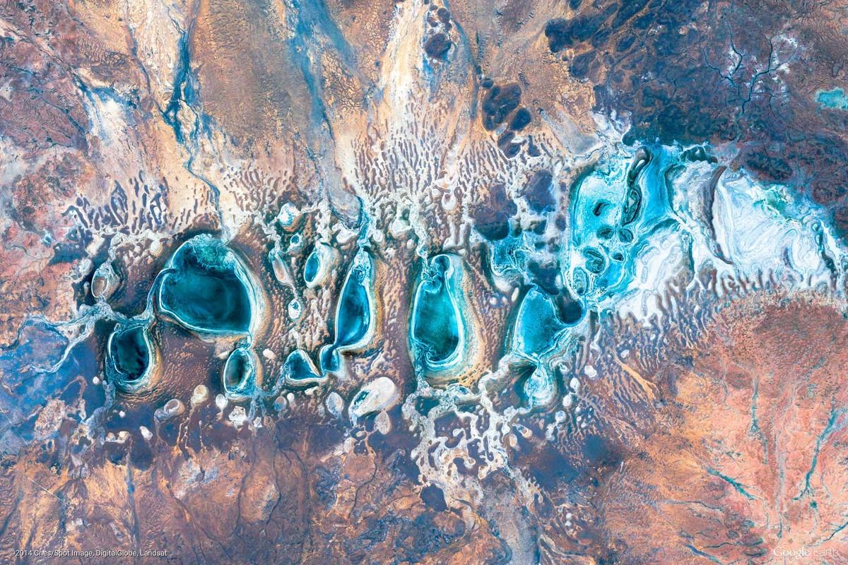 изумительные абстрактные снимки с Google Earth