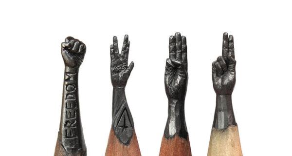 Скульптор из Уфы превращает карандаши в известных героев
