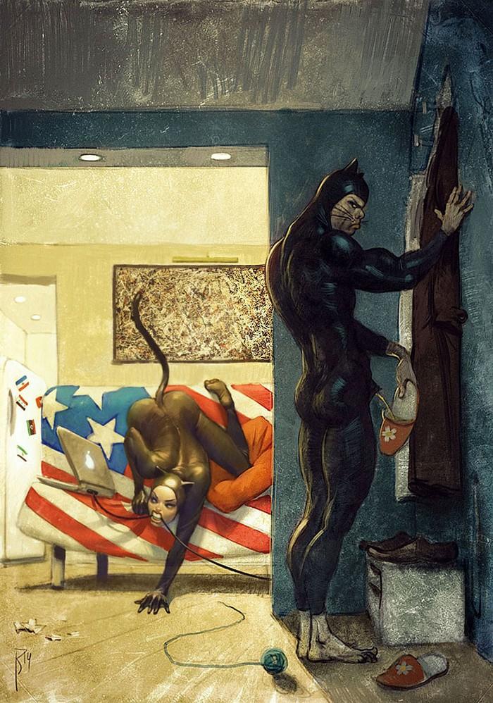 Иллюстрации секса художниками