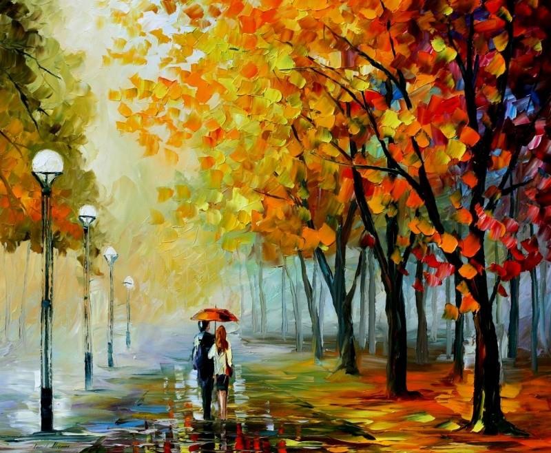 картины осень