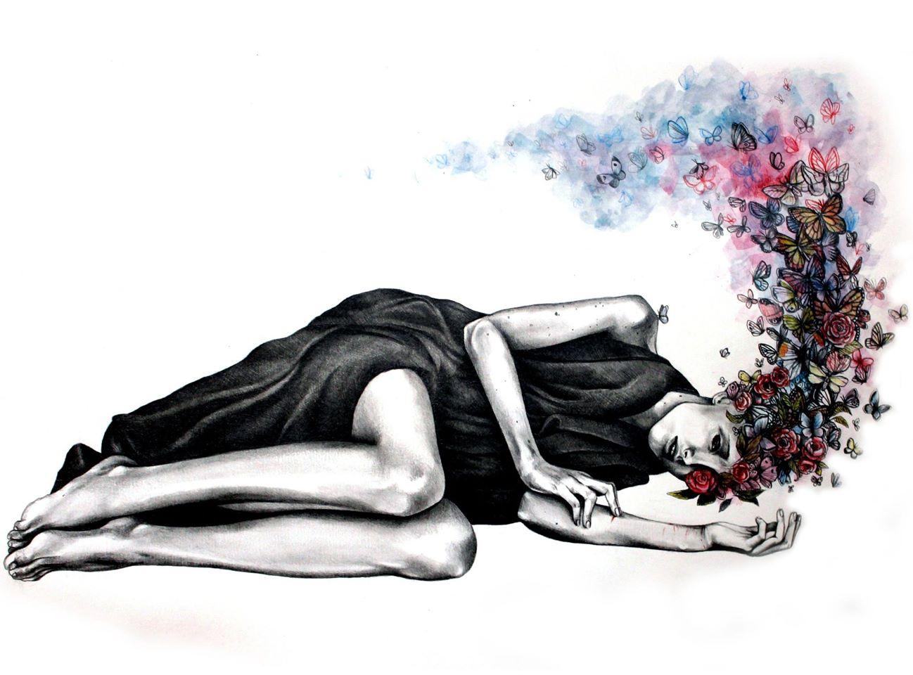 Боль души рисунки