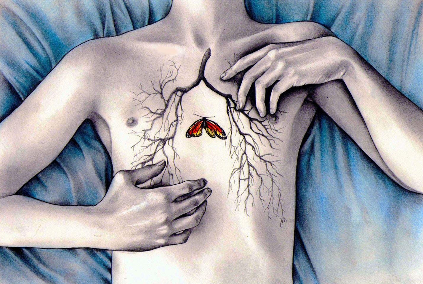 А вы не знаете почему живот болит там же бабочки