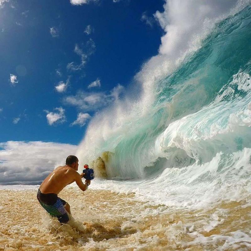 как фотографы снимают гигантские волны