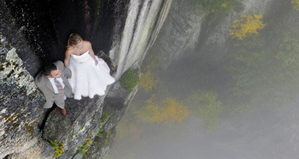 На краю: новое слово в экстремальной свадебной фотографии
