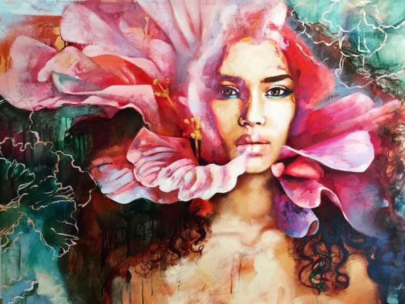 Эта девочка рисует всю ту круговерть, которая происходит в голове у 16-летнего подростка