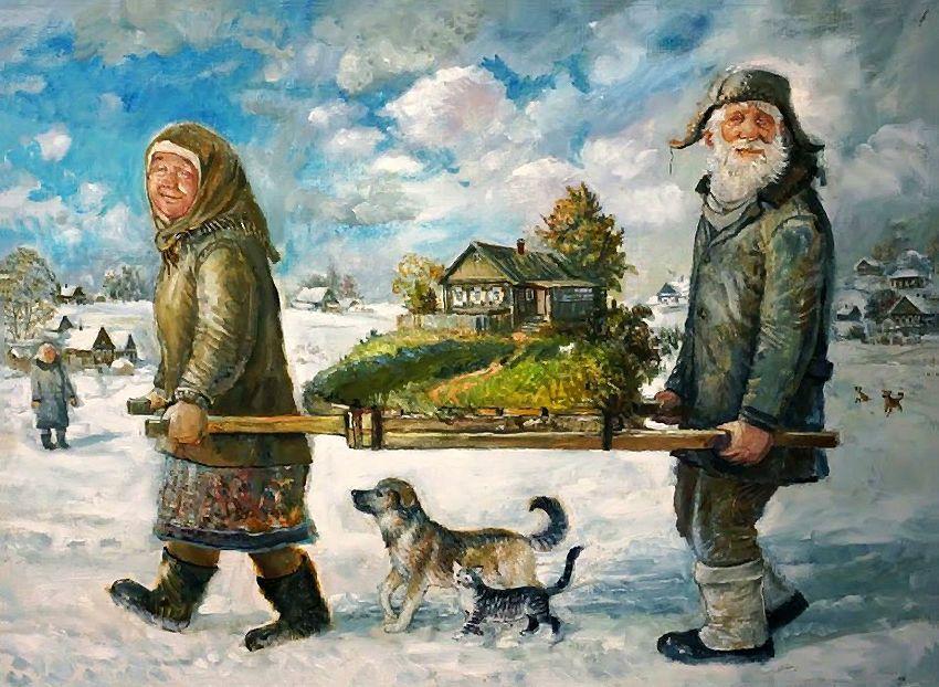 Зимой особенно хочется летать… Уральский художник Леонид Баранов