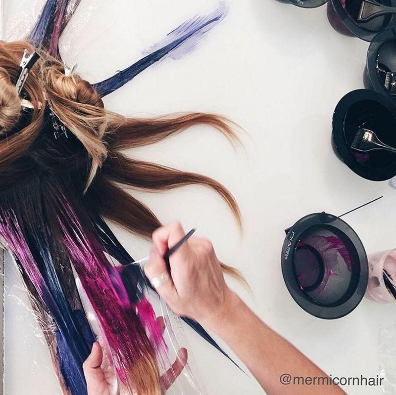 Техники креативного окрашивания волос