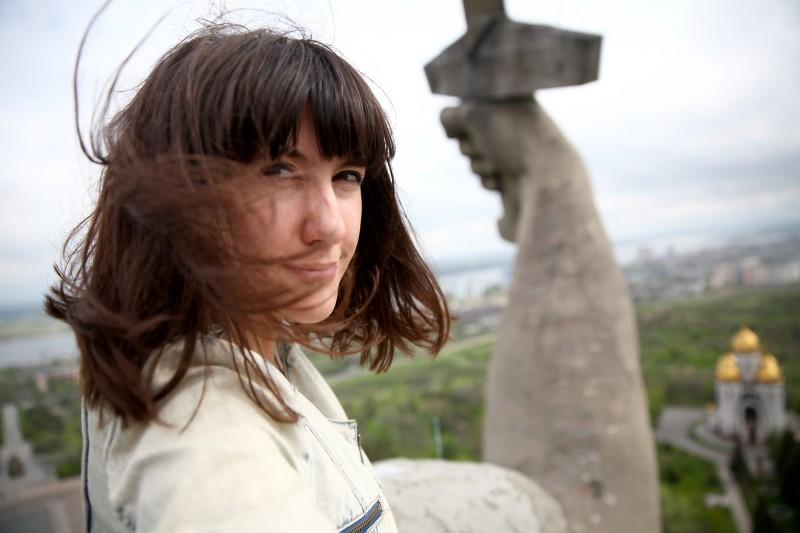 Экскурсию провела ваша Дашэчка. К слову, в тот день наверху было не очень ветрено, хотя я готовилась в тому, что будет сдувать.