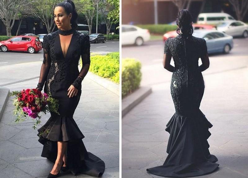 Наперекор традициям: невеста  в черном платье