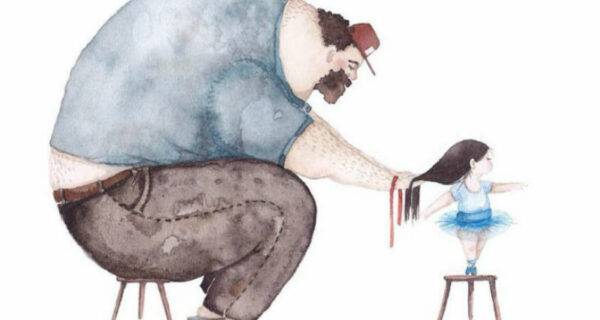 Добрые иллюстрации любви между отцом и дочкой, от которых становится тепло надуше