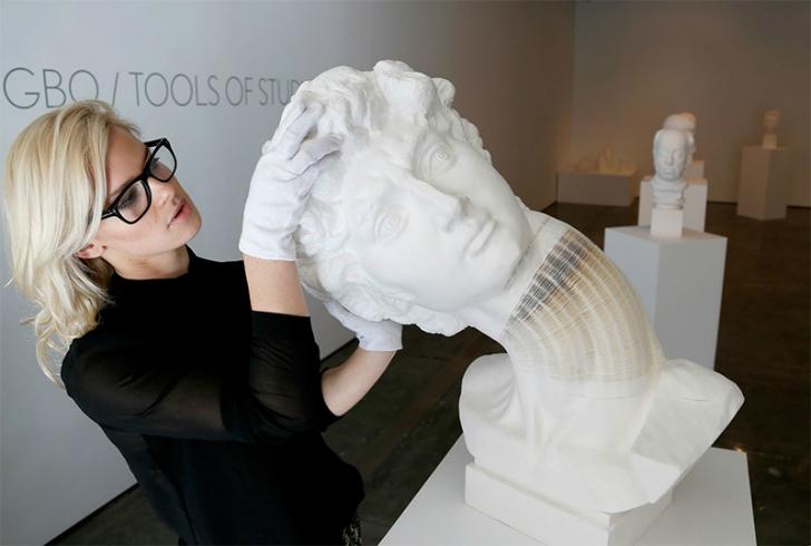 Срыв бумажной башки в невероятных скульптурах Ли Хунбо