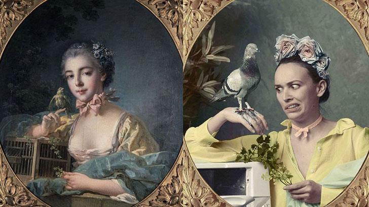Популярные блогеры воссоздают шедевры французского искусства в Instagram