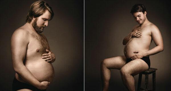 Мужчины любовно поглаживают «пивные» животики в немецкой рекламе