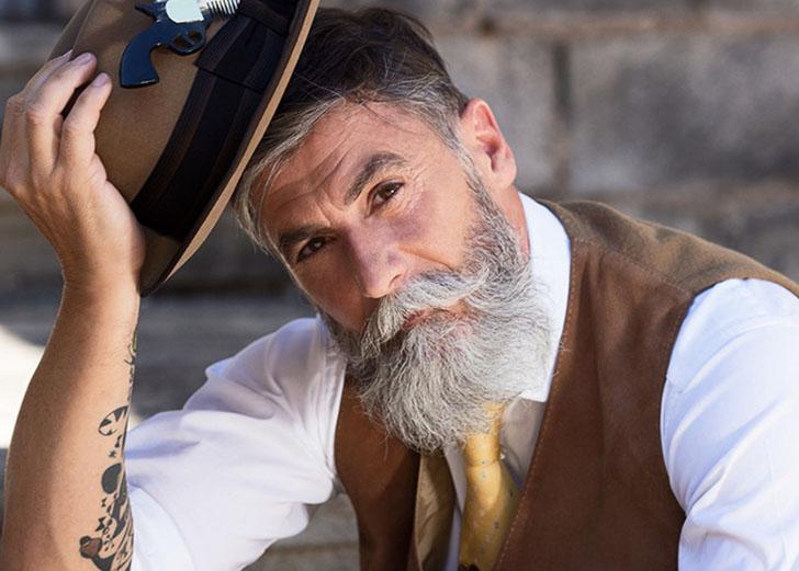 Седина в бороду: 60-летний хипстер стал фотомоделью