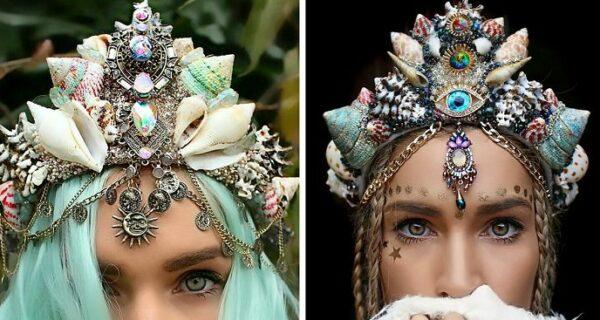 Потрясающие короны из ракушек превратят любую девушку в современную русалку