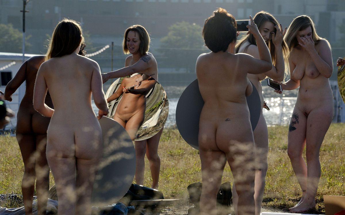 Obscene women naked video