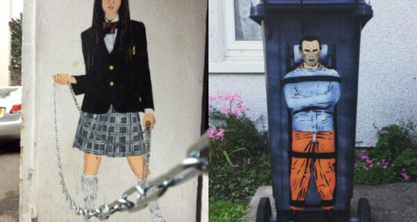По стопам Бэнкси: британский уличный художник делает серые стены чутьярче