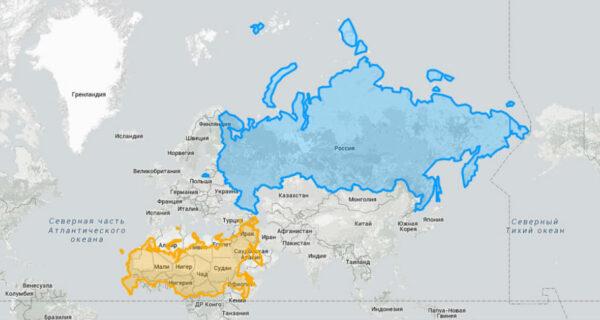 Эти карты позволят вам увидеть настоящие размеры странмира