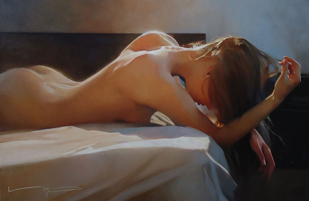 Яркие картины в стиле ню от российского художника фото