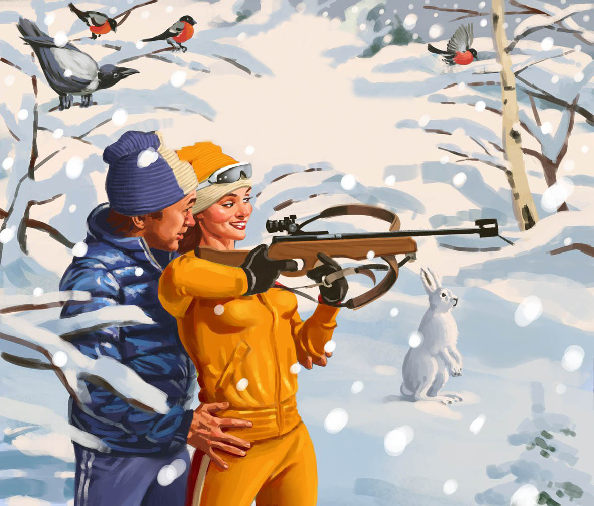 Советские плакаты в стиле пин-ап от Валерия Барыкина (15)