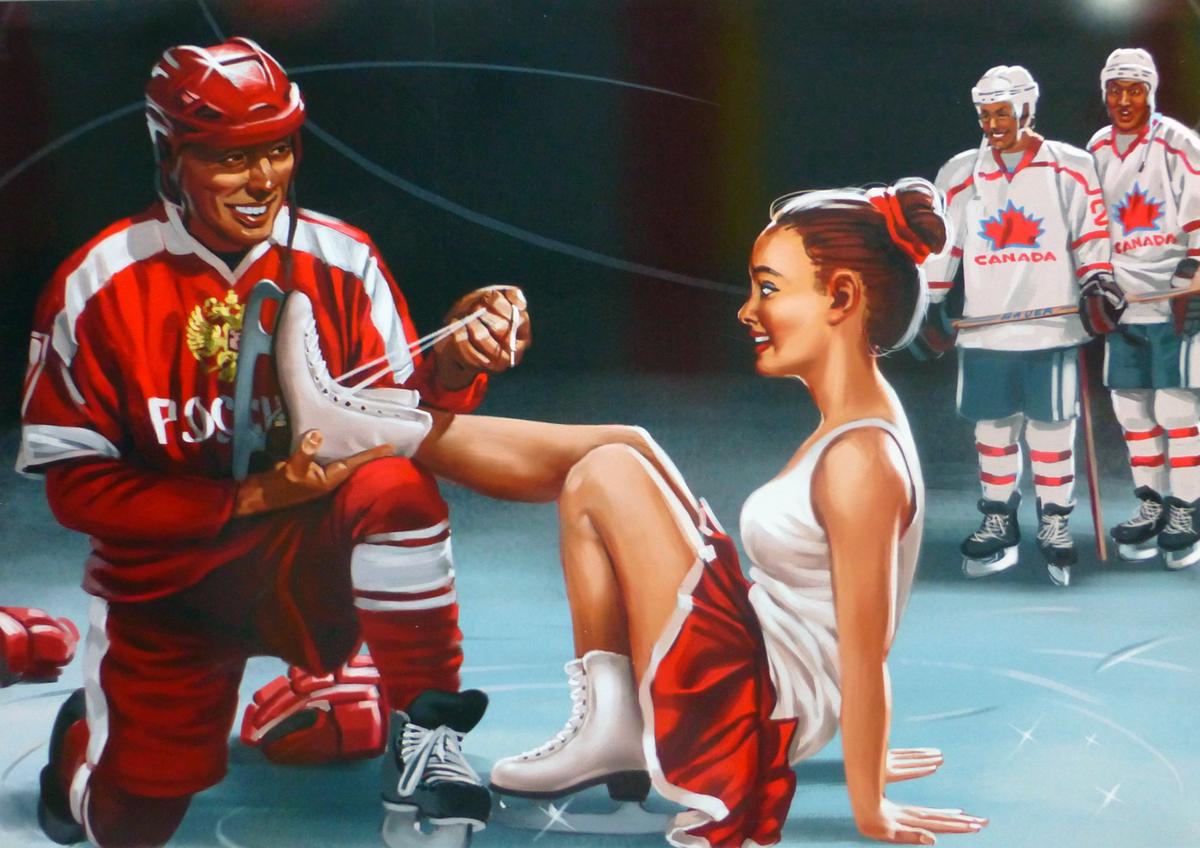 Советские плакаты в стиле пин-ап от Валерия Барыкина (17)