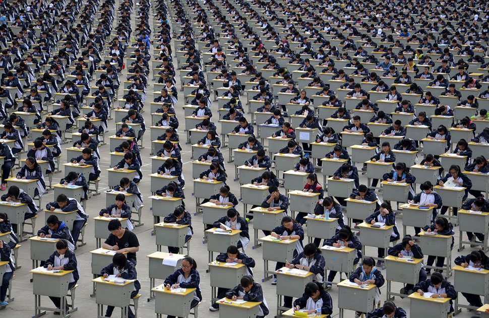 23 шокирующих фотографии о том, насколько много людей в Китае фото