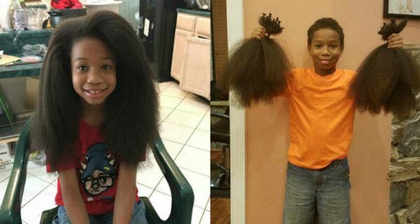 8‑летний мальчик 2 года отращивал волосы, чтобы сделать парики для больных ракомдетей