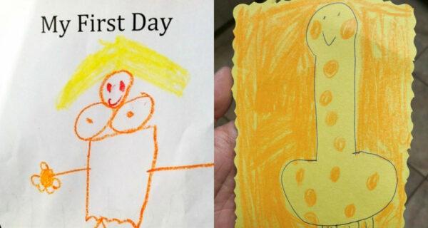 Невинные детские рисунки, которые выглядят абсолютно неприлично