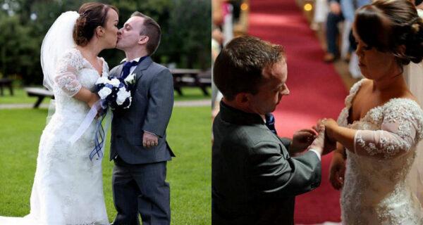 Пара карликов, познакомившихся, участвуя в спектакле по «Белоснежке», сыграла сказочную свадьбу