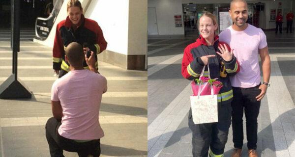 Нормально угорел: парень вызвал спасателей, чтобы сделать предложение девушке-пожарному