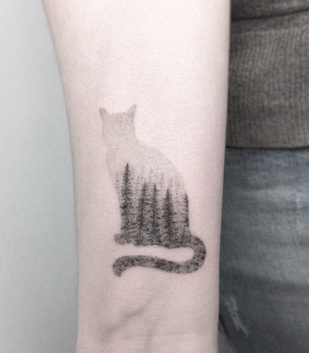 Идеи татуировок для любителей котиков