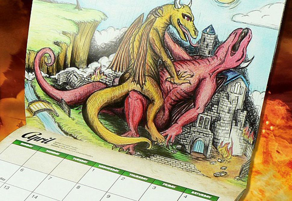 Самый странный подарок — календарь с совокупляющимися драконами на 2017 год