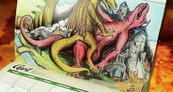 Самый странный подарок — календарь с совокупляющимися драконами на 2017год