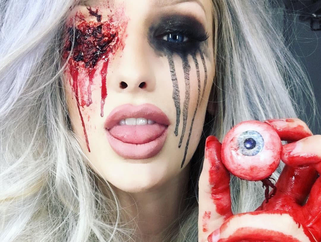 Жуткий грим на Хэллоуин, от которого задергается глаз даже у памятника