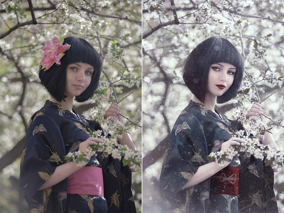 До и после: как обычные снимки превращаются в волшебные кадры