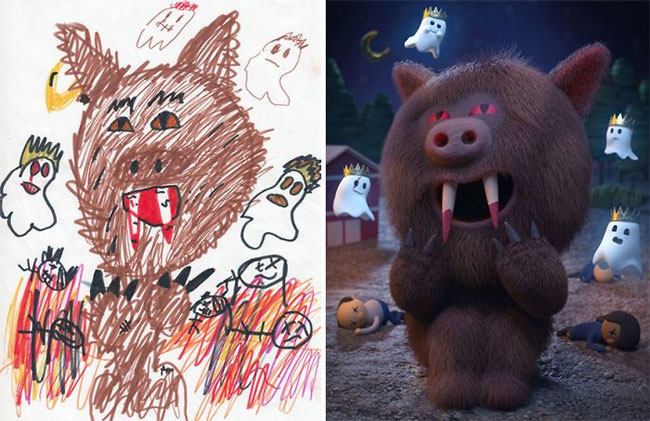 Проект «Монстры»: художники создают фантастические миры по мотивам детских MINI