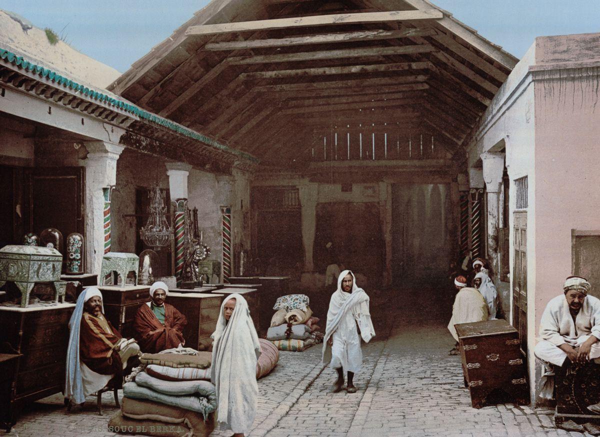Редкие цветные кадры из Туниса рубежа XIX-XX веков